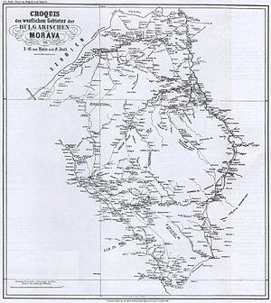 Johann Georg von Hahn - Image: Bulgar Morava map