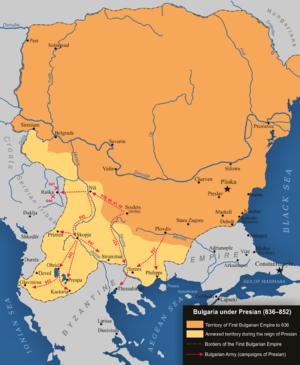 Presian I of Bulgaria - Bulgaria under Presian