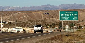 Arizona State Route 95 - SR 95 approaching Bullhead City's southern city limits.