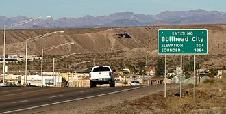Bullhead City, Arizona - Bullhead City's southern city limits as seen from SR 95.
