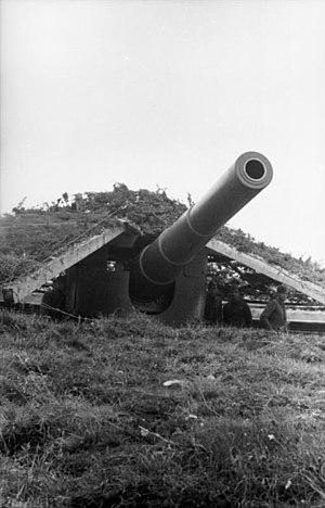 17 cm SK L/40 gun - Used in Atlantic Wall
