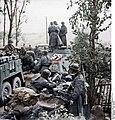 Bundesarchiv Bild 101III-Wiegand-117-01, Russland, motorisierte Einheit der SS-Totenkopf-Division Recolored.jpg