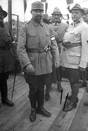 Judenburg - Walter Pfrimer right with Heimwehrführer Richard Steidle in 1931