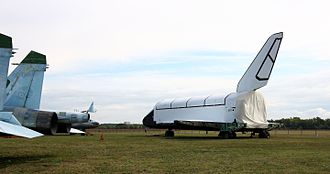 Buran programme - Image: Buran 2.01 2011 in Gromov Flight Research Institute