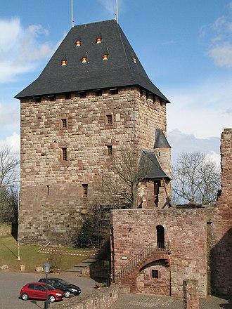 Nideggen - Restored keep of Burg Nideggen