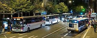 Noctilien - Several Noctilien Buses at Paris-Gare de Lyon hub bus station (Rue de Bercy)