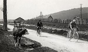 1926 Tour de France - Jules Buysse leading, who will win the first stage (Evian to Mulhouse).