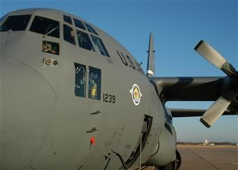 C-130 at Dyess AFB