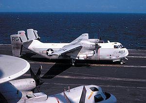 C-2A VRC-50 on USS Coral Sea (CVA-43) c1970.jpg