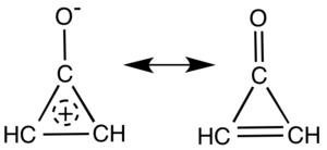 Cyclopropenone - Main resonance structures of cyclopropenone.