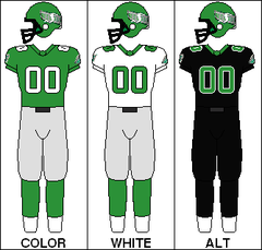 The 2003 black alternate uniform of the Saskatchewan Roughriders of the  Canadian Football League ab504b42758b