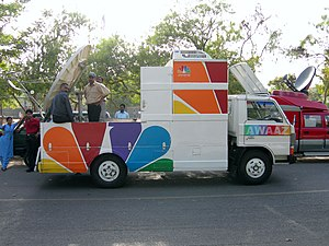 CNBC Awaaz News Van