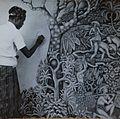 COLLECTIE TROPENMUSEUM De schilder Ida Bagus Made Nadera aan het werk TMnr 60054747.jpg