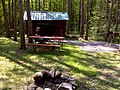 CT08 Blue Trl 0.5 mi - Darien Lake S. P. Leanto, 7'x11' interior, 2 picnic tables, 2 grills, fire ring, but no nearby reliable water and no outhouse - panoramio.jpg