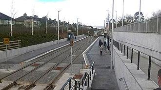 Green Line (Luas) - Image: Cabra Luas station (2019)