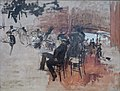 Café Scene by Giovanni Boldini, c. 1887, oil on panel, California Palace of the Legion of Honor.JPG