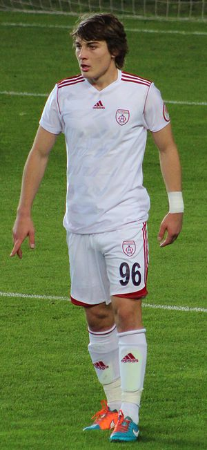 Çağlar Söyüncü - Söyüncü playing for Altınordu S.K., in December 2014