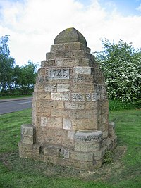 Cairn in memory of Battle of Prestonpans 1745 - geograph.org.uk - 957225.jpg