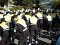 Cal Band en route to Memorial Stadium for 2008 Big Game 13.JPG