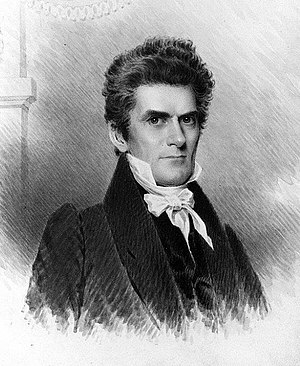 James B. Longacre - Senator John C. Calhoun, as rendered by Longacre in 1834