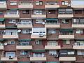 Calle de Alcalá, Madrid, edificio con balcones, España, 2015.JPG