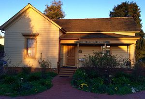 Cambria, California - Cambria Historical Museum, in the restored  Guthrie-Bianchini House, built 1870.