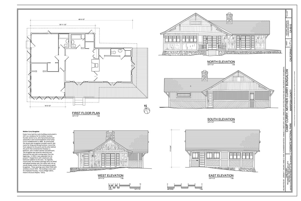 Relationship Of Elevation To Plan : File camp curry mother bungalow plan and elevations