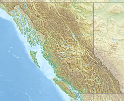 Mount Tiedemann is located in British Columbia