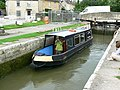 Canal boat on the way up the Kennet and Avon canal (4) - geograph.org.uk - 1443309.jpg