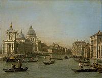 Canaletto - De ingang van het Canal Grande bij de Punta della Dogana en de Santa Maria della Salute.jpg