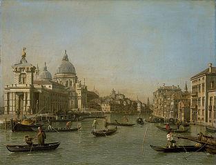 L'Embouchure du Grand Canal à la pointe de la Douane et Santa Maria della Salute