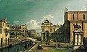 Кампо-Санти-Джованни-э-Паоло, Венеция, с Уэст-Эндом церкви и Скуола ди Сан-Марко