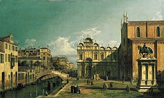 The Campo Santi Giovanni e Paolo, Venice, with the West End of the Church and the Scuola di San Marco