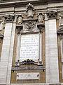 Cappella paolina, ext., iscrizione.JPG