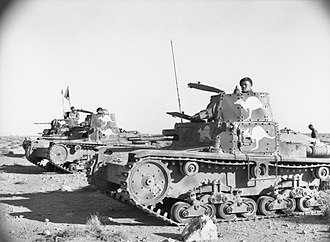 9th Division (Australia) - Australian troops using captured Italian tanks