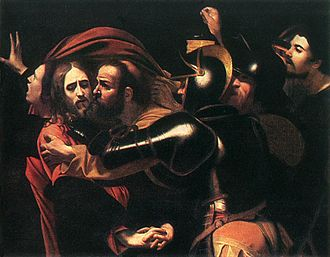 1602 in art - Image: Caravaggio Taking of Christ Odessa