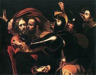 1602 in art - Image: Caravaggio Taking of Christ Odessa