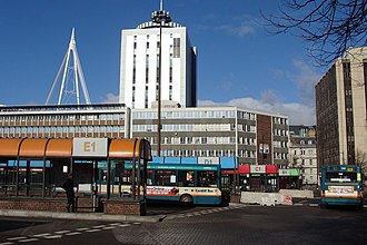 BBC Wales headquarters building - Image: Cardiff Bus Station geograph.org.uk 1152316