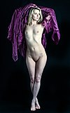 Carla the nude model in a purple cloak.jpg