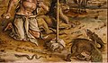 Carlo crivelli, madonna della rondine, post 1490, da s. francesco a matelica, predella 05 drago, serpente e leone.jpg