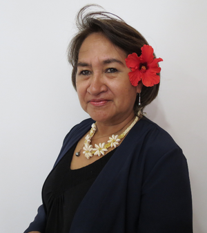 Melania Hotu - Image: Carolina Hotu Hey, gobernadora de la provincia Isla de Pascua