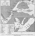 Carte de la riviere Min et position des navires francais et chinois au moment du declenchement du combat de Fou Tcheou en 1884.jpg