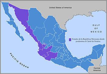 Mapa donde se muestra las zonas de predominio ...