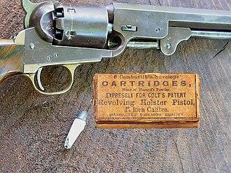 Colt 1851 Navy Revolver - Image: Cartridgebox