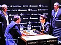 Caruana-Məmmədyarov, Magath und Deventer - Kandidatenturnier Berlin 2018 Runde 10.jpg