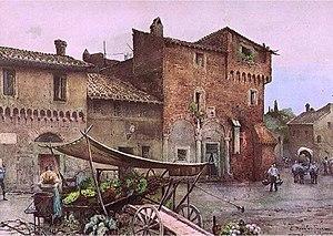Case Medioevali a Santa Cecilia in Rome (rione...