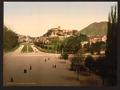 Castle from terrace of Notre Dame de Lourdes, Lourdes, Pyrenees, France-LCCN2001698646.tif
