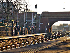 Castleton, Greater Manchester - Castleton railway station lies on the Caldervale line.