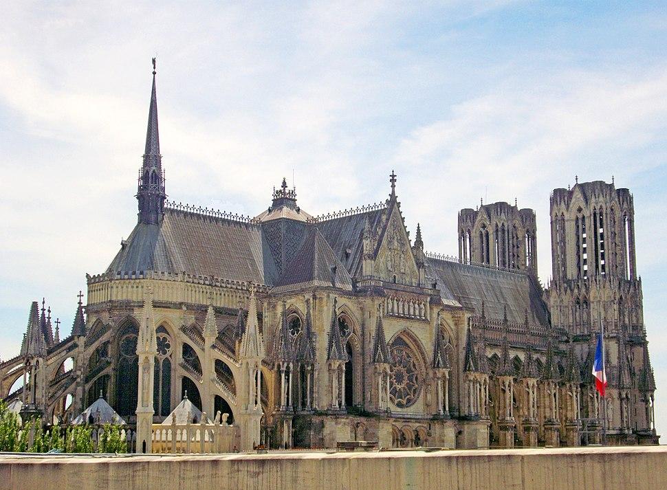 Cathédrale ND de Reims - toits (02)b