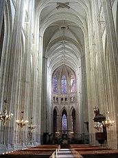 Catedral de Nantes, vista de la nave restaurada